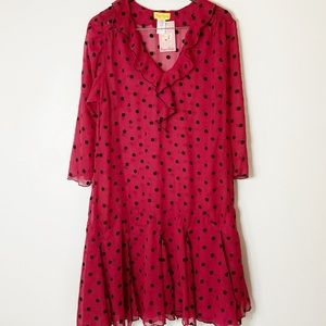 BERNIE DEXTER | Dress Pin Up Red W/ Polk Dot NWT